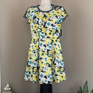 JUICY COUTURE Short Sleeve Embellish Floral Dress